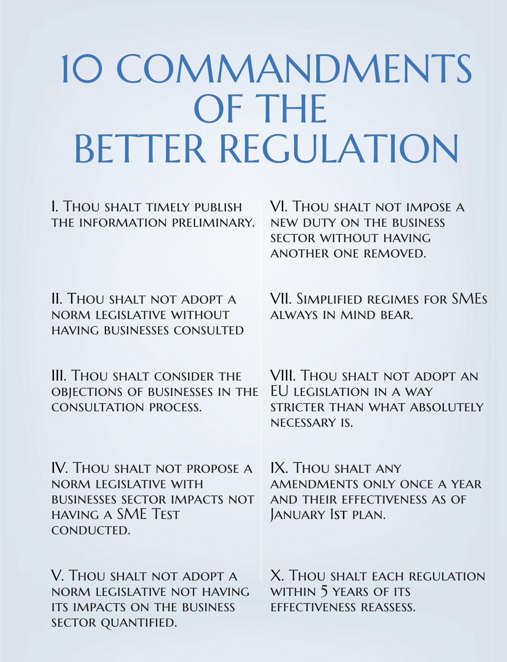 Desatoro lepšej regulácie